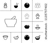 bowl icon. collection of 13... | Shutterstock .eps vector #1135757402