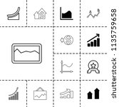 increase icon. collection of 13 ... | Shutterstock .eps vector #1135759658