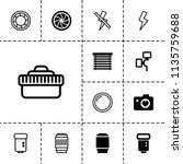 shutter icon. collection of 13... | Shutterstock .eps vector #1135759688
