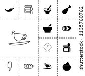 tasty icon. collection of 13...   Shutterstock .eps vector #1135760762