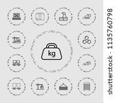 heavy icon. collection of 13...   Shutterstock .eps vector #1135760798