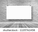 vector mockup poster banner... | Shutterstock .eps vector #1135761458