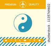 yin yang symbol of harmony and... | Shutterstock .eps vector #1135764602