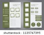 abstract flyer template.... | Shutterstock .eps vector #1135767395