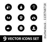 human icon. collection of 9... | Shutterstock .eps vector #1135768718