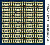 set of smile icons. emoji.... | Shutterstock .eps vector #1135769888