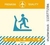 man on treadmill icon | Shutterstock .eps vector #1135771586