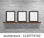 vector mock up three blank... | Shutterstock .eps vector #1135774742