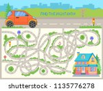 children maze. find the right... | Shutterstock .eps vector #1135776278