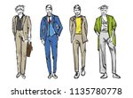 fashion man. set of fashionable ... | Shutterstock .eps vector #1135780778