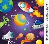 solar system and space... | Shutterstock .eps vector #1135781645