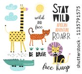 vector set of children's... | Shutterstock .eps vector #1135791575