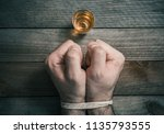 quit drinking alcohol concept... | Shutterstock . vector #1135793555