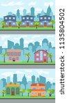 set of three vector... | Shutterstock .eps vector #1135804502