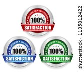 three satisfaction badges with... | Shutterstock .eps vector #1135812422