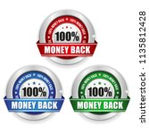 three money back badges with... | Shutterstock .eps vector #1135812428