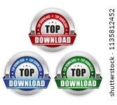 three rop download badges with... | Shutterstock .eps vector #1135812452