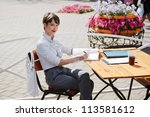 Young Businesswoman At A...