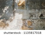 the structure of a wall of old... | Shutterstock . vector #1135817018