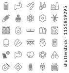 thin line vector icon set  ... | Shutterstock .eps vector #1135819295