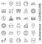 thin line vector icon set  ... | Shutterstock .eps vector #1135821248