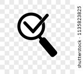 magnifying glass with check... | Shutterstock .eps vector #1135823825