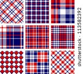 plaid patterns  american flag... | Shutterstock .eps vector #113582392