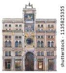 st mark's clock tower  venice.... | Shutterstock . vector #1135825355
