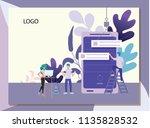 vector illustration. for web...   Shutterstock .eps vector #1135828532