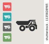 dump truck   vector icon....