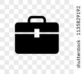 toolbox vector icon on... | Shutterstock .eps vector #1135829192