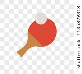 ping pong vector icon on... | Shutterstock .eps vector #1135829318