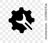 settings vector icon on... | Shutterstock .eps vector #1135831916