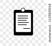 notepad vector icon on... | Shutterstock .eps vector #1135835018