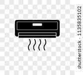 air conditioner vector icon on... | Shutterstock .eps vector #1135835102