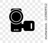 camcorder vector icon on...