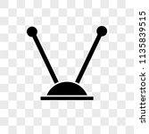 antenna vector icon on... | Shutterstock .eps vector #1135839515