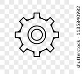 settings vector icon on... | Shutterstock .eps vector #1135840982