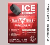 ice hockey poster. design for... | Shutterstock . vector #1135843622