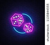 Dice Neon Sign Vector Design...