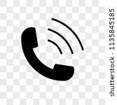 phone volume vector icon on... | Shutterstock .eps vector #1135845185