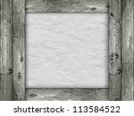 Template - wood and rough wall background - stock photo