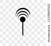 antenna with vector icon on... | Shutterstock .eps vector #1135845332