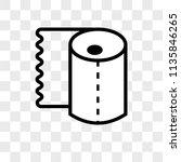rolled paper for bathroom...   Shutterstock .eps vector #1135846265