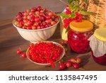 summer beautiful food... | Shutterstock . vector #1135847495