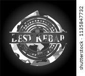 best kebab on grey camouflaged... | Shutterstock .eps vector #1135847732