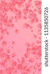 lovely pink hearts falling on... | Shutterstock .eps vector #1135850726