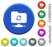 refresh ftp round color beveled ... | Shutterstock .eps vector #1135855442
