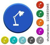 desk lamp round color beveled... | Shutterstock .eps vector #1135855445