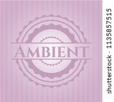 ambient badge with pink... | Shutterstock .eps vector #1135857515
